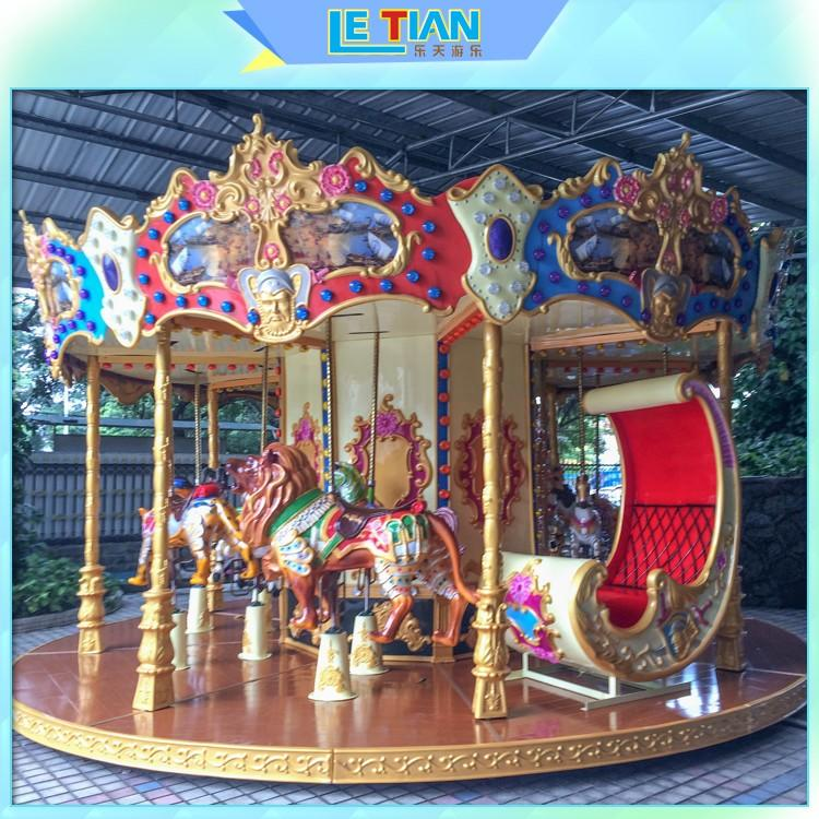 LETIAN 24 seats childrens carousel design shopping centers