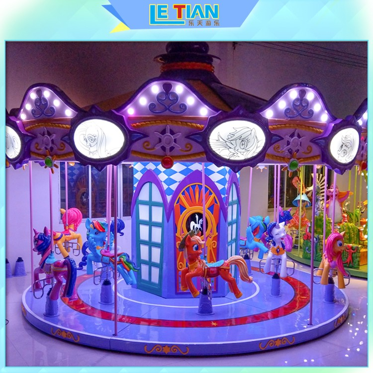LETIAN Latest carousel horse for business shopping centers-1