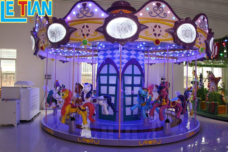 LETIAN Latest carousel horse for business shopping centers-3