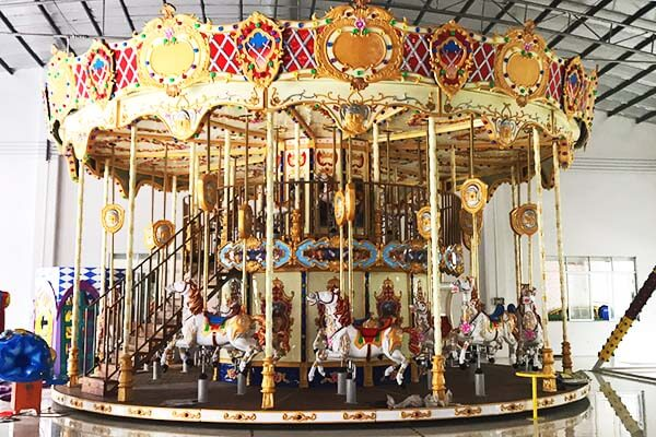 LETIAN horses carousel for kids design fairground-4