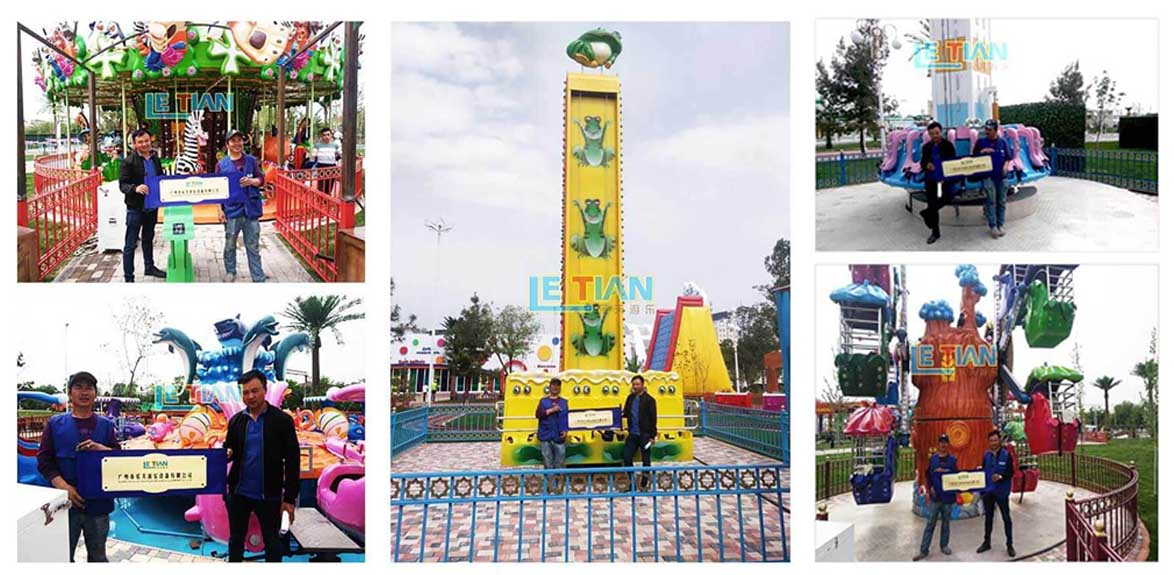 LETIAN durable ride on carousel factory fairground-16