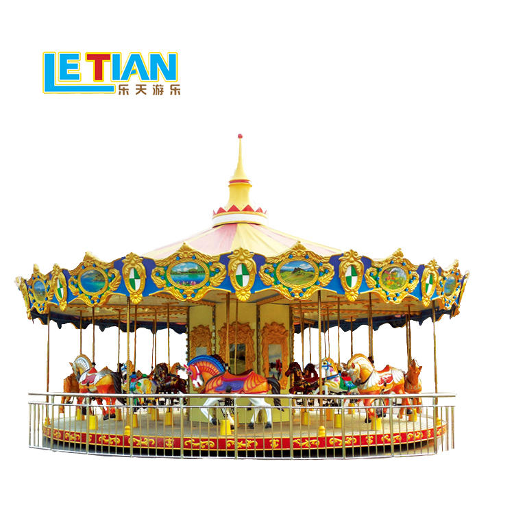 Carousel Horses ride for fairground equipment LT-7033A