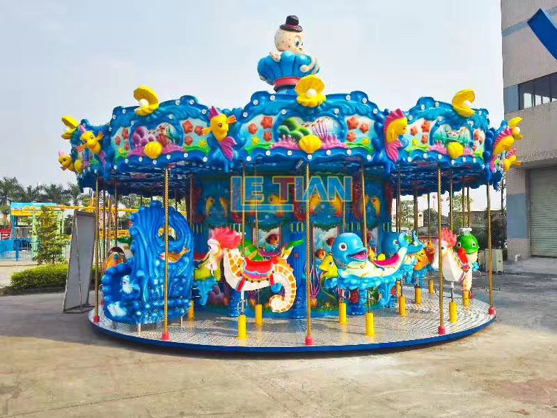 24 seats carousel ride double theme park-3