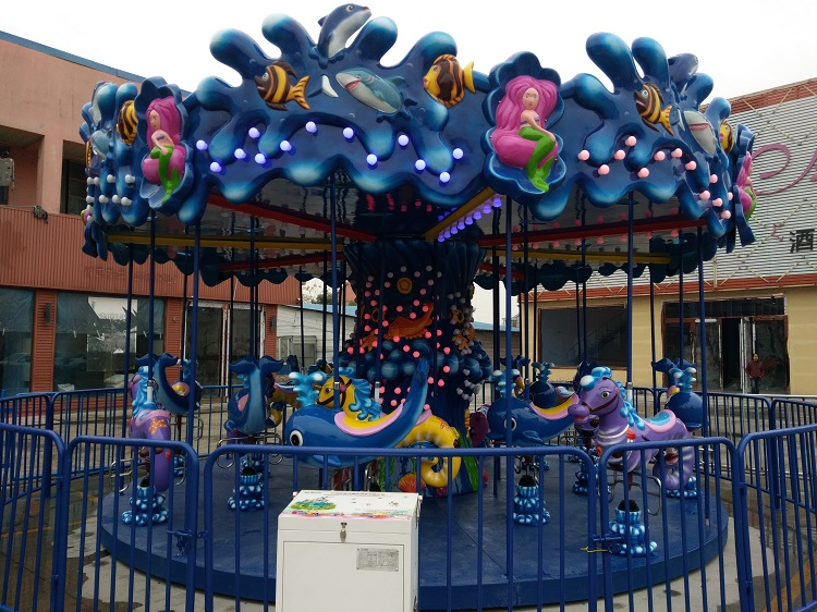 24 seats carousel ride double theme park-4