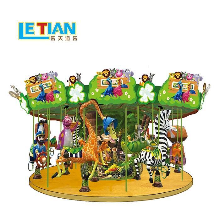 Kids Merry go Round amusement park carousel horse ride LT-7036B