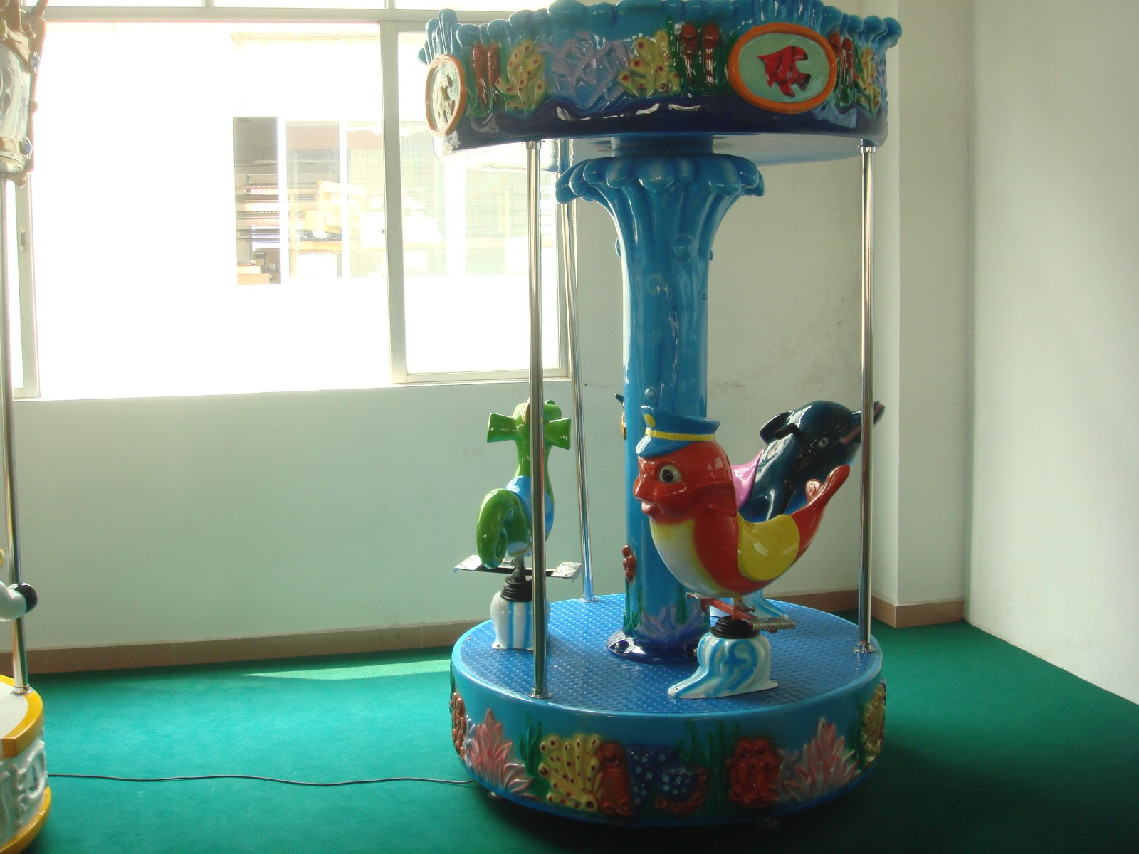 LETIAN kiddie mini carousel ride for sale for business carnival-2