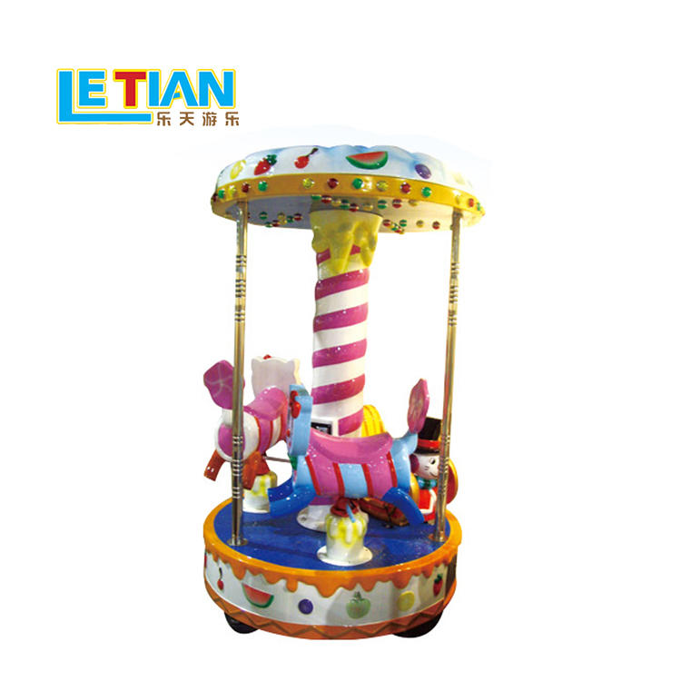 Coin Operated 3 seats Kiddie Carousel Horse ride LT-7038