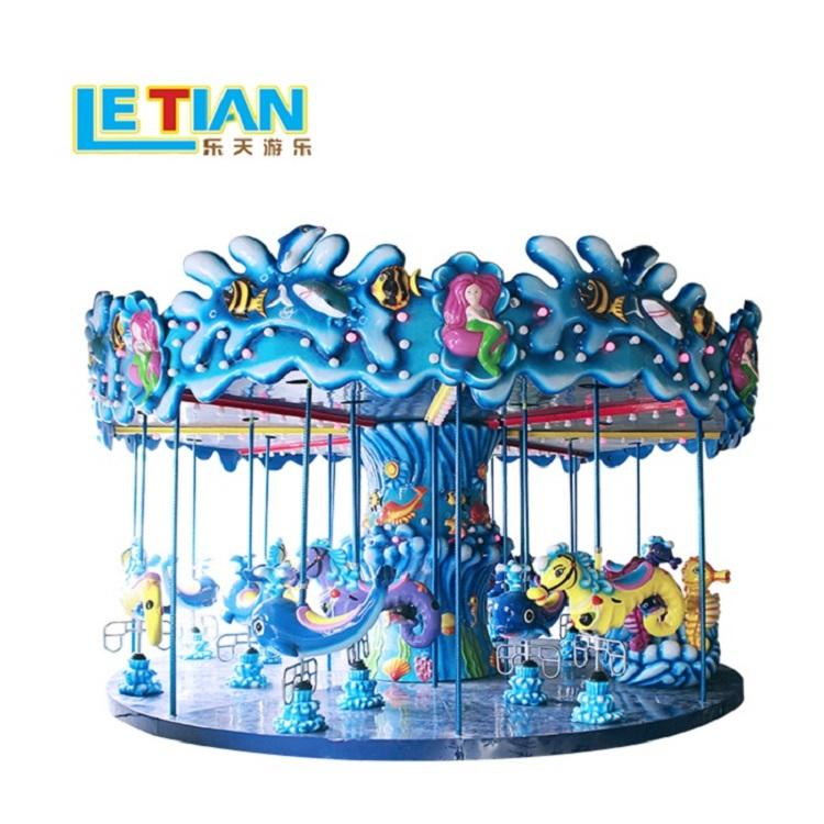 Luxury 18 seats ocean carousel fairground equipment