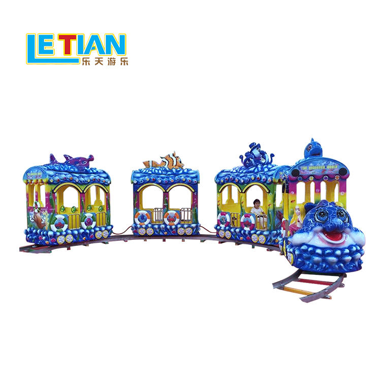 Hot sale 14 seats kids sea world tourist train set LT-7077A