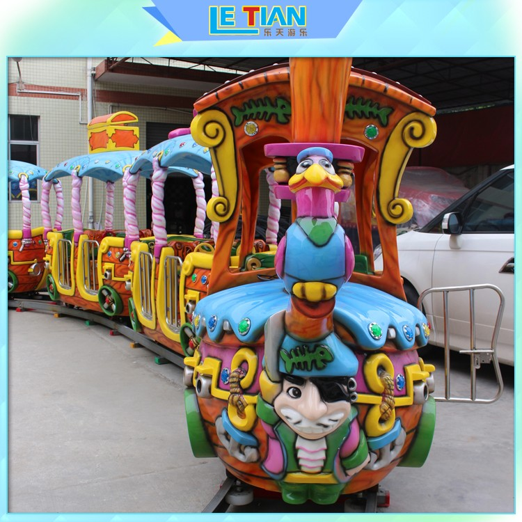 LETIAN funfair small ride on trains China mall-1