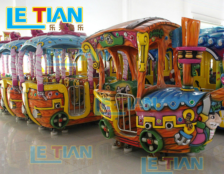 LETIAN funfair small ride on trains China mall-4
