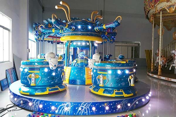 LETIAN funfair small ride on trains China mall-8