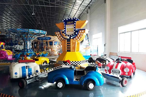 LETIAN funfair small ride on trains China mall-9