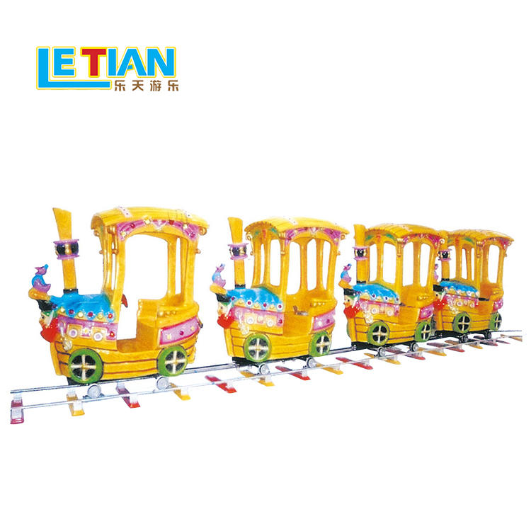 Kids amusement rides happy small 8 seats electric train LT-7079A