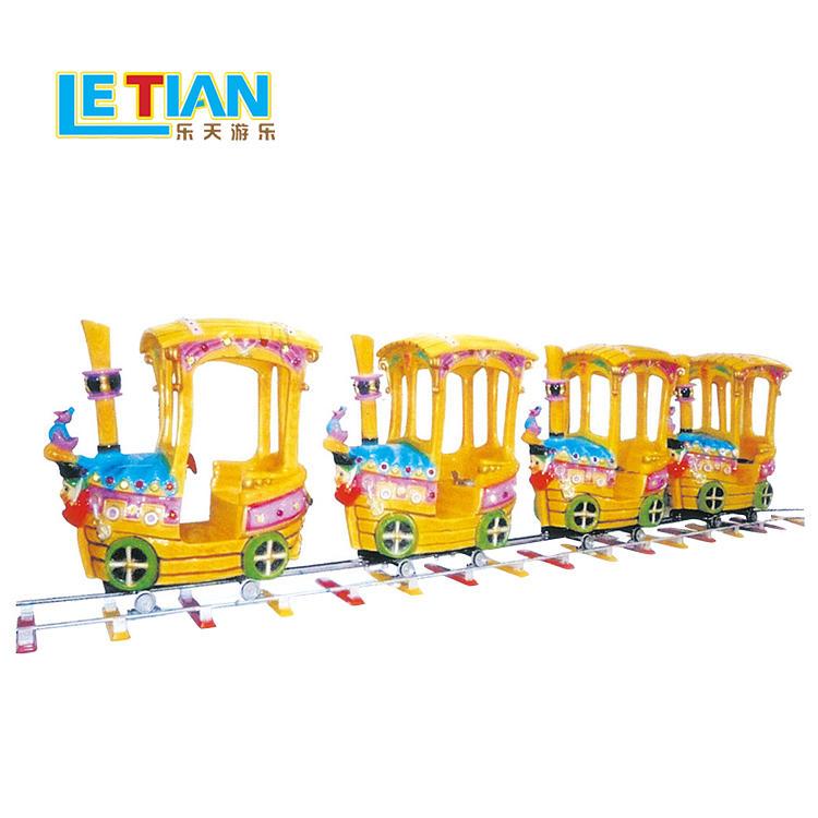 Kids amusement rides happy small 8 seats electric train LT-7079A