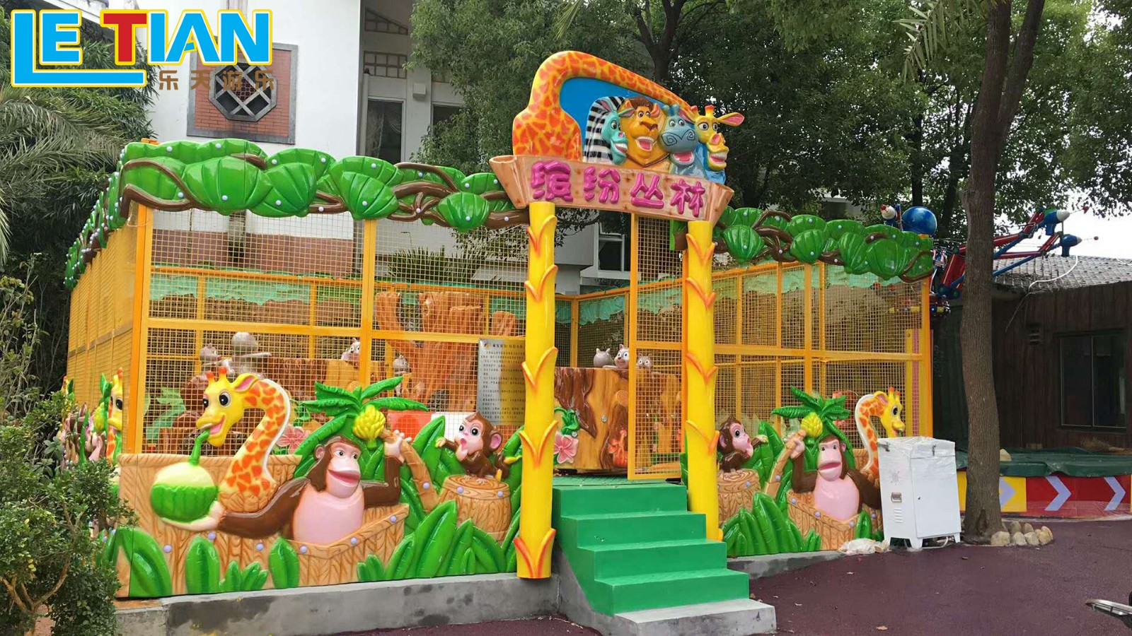 LETIAN electric park train ride for kids children's palace-1