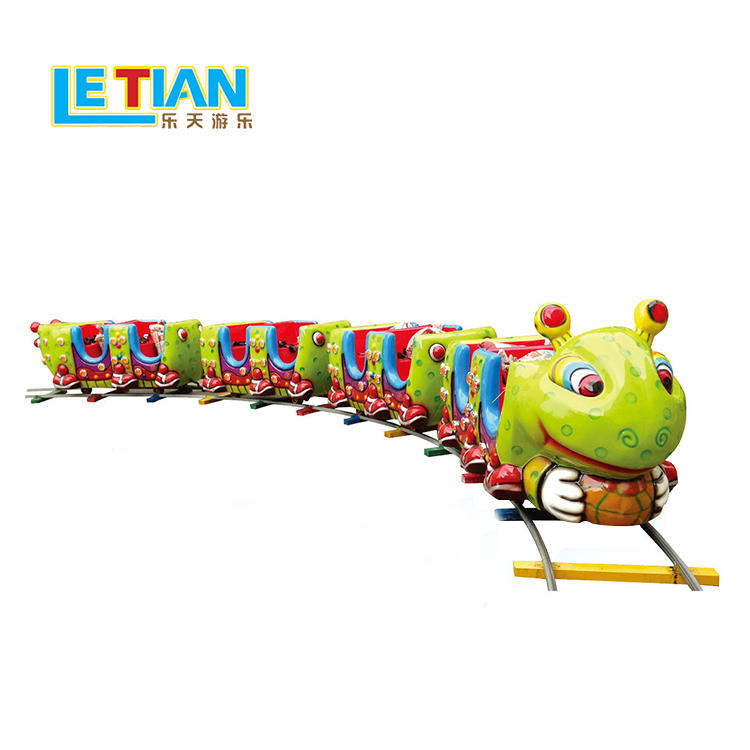 Kids electric track train happy worm train equipment LT-7085A