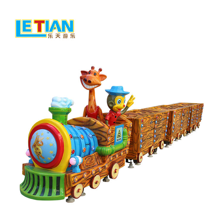 Small jungle track train for sightseeing kids theme park equipment lt-7086a