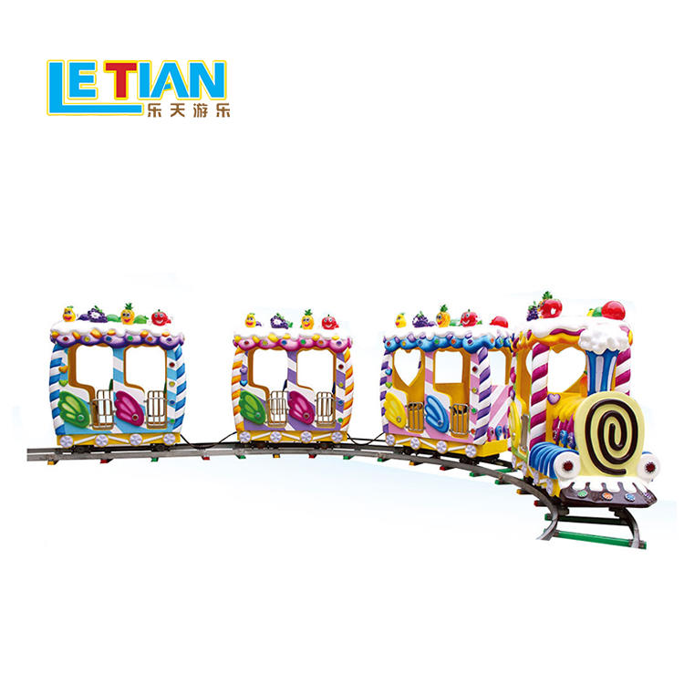 Kids colorful design candy train for amusement park LT-7086B