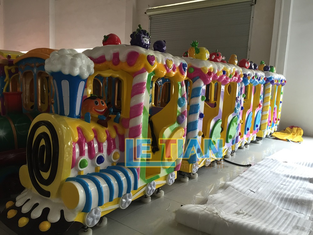LETIAN mechanical carnival train ride for sale mall-4