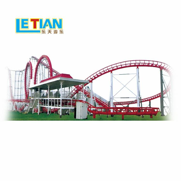 Vertical roller coaster ride equipment with six rings LT-7016