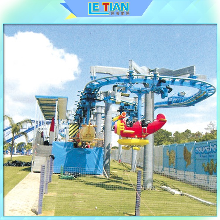 LETIAN sky build my own roller coaster games for kids playground-2