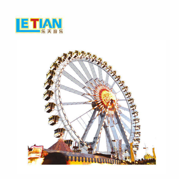 FRP large ferris wheel with 112 seats lt-7017a