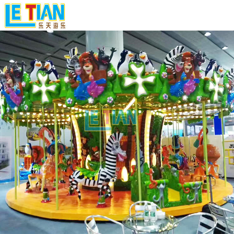 Kids Merry go Round amusement park carousel horse ride LT-7036B