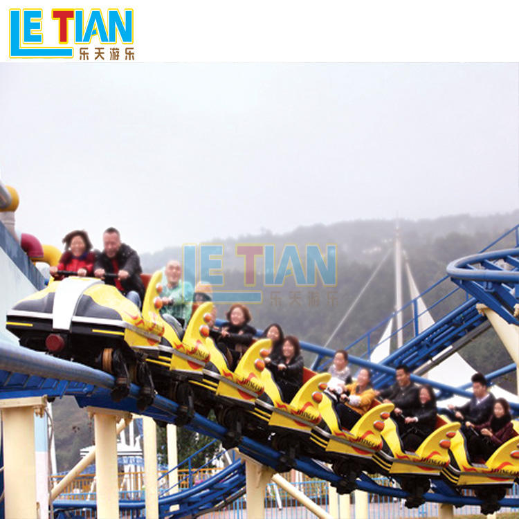 Amusement park FRP family roller coaster with 16 seats