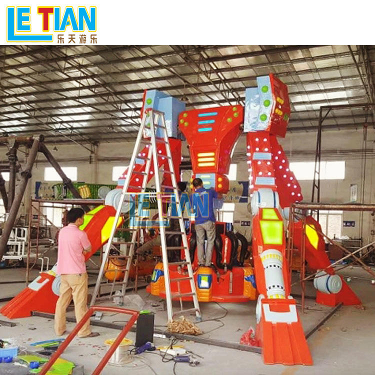 Factory made amusement Park Thrill rides with 6 seats