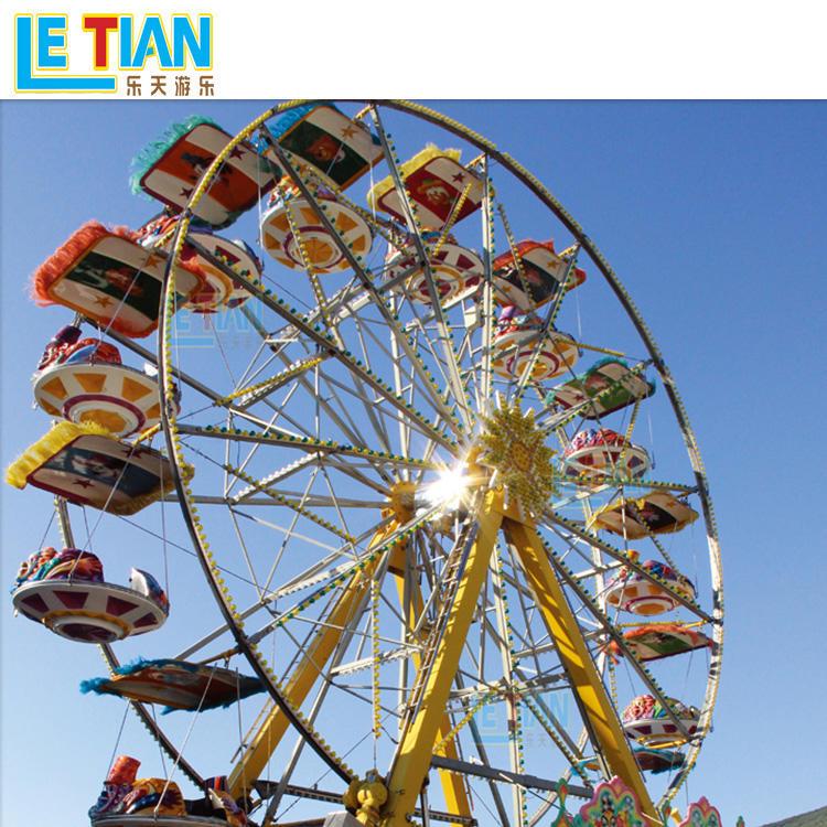 Wonder wheel large amusement ride with 72 seats