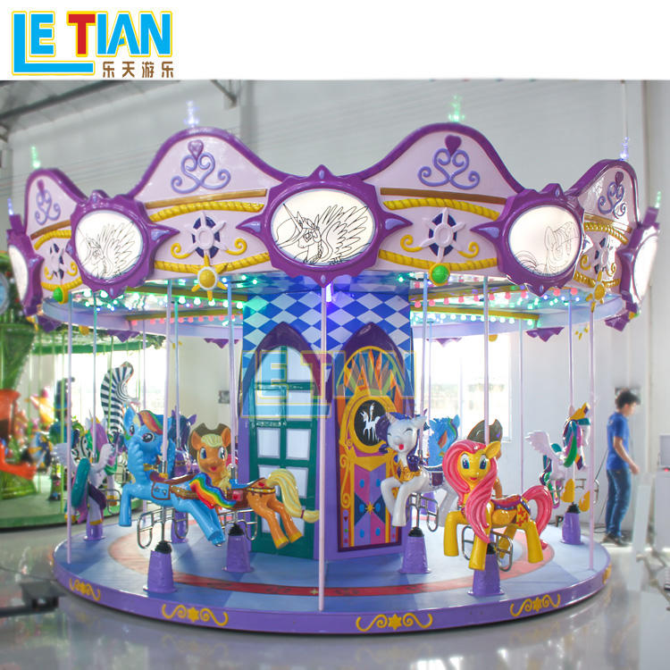 Kids Carousel Horse Rides carnival games merry go round LT-7032B