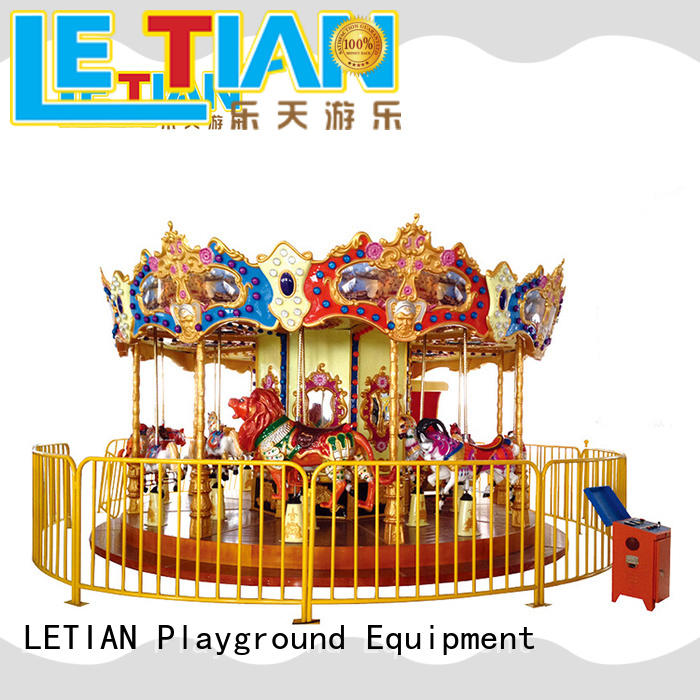 LETIAN durable carousel ride customized shopping centers