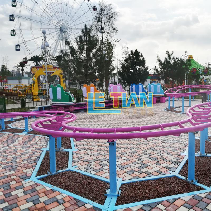 Kids roller coaster for the amusement park