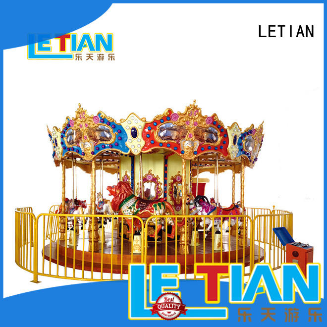 Kids merry go round with music colorful carousel LT-7031A