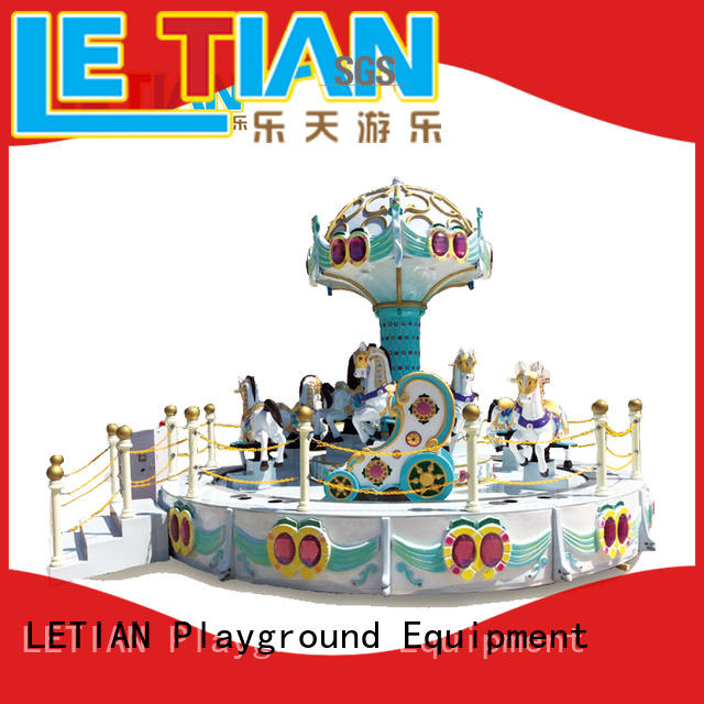 LETIAN colorful childrens carousel Supply theme park