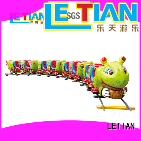LETIAN colorful themed train rides manufacturer park playground