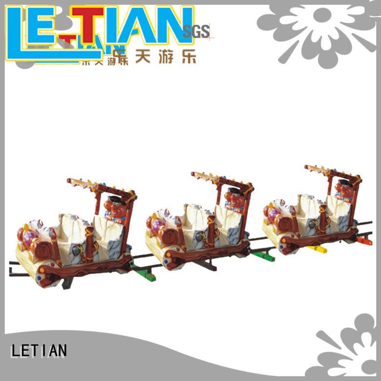 Ancient 8 seats FRP electric train for kids entertainment equipment LT-7081