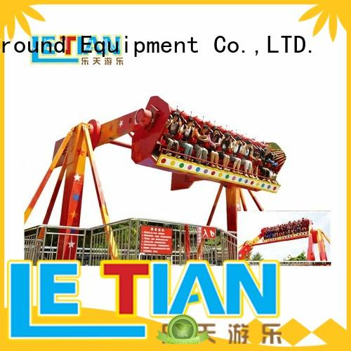 colorful extreme thrill rides thrill facility amusement park