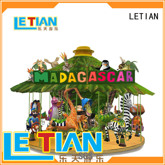LETIAN colorful the childrens carousel for kids shopping centers