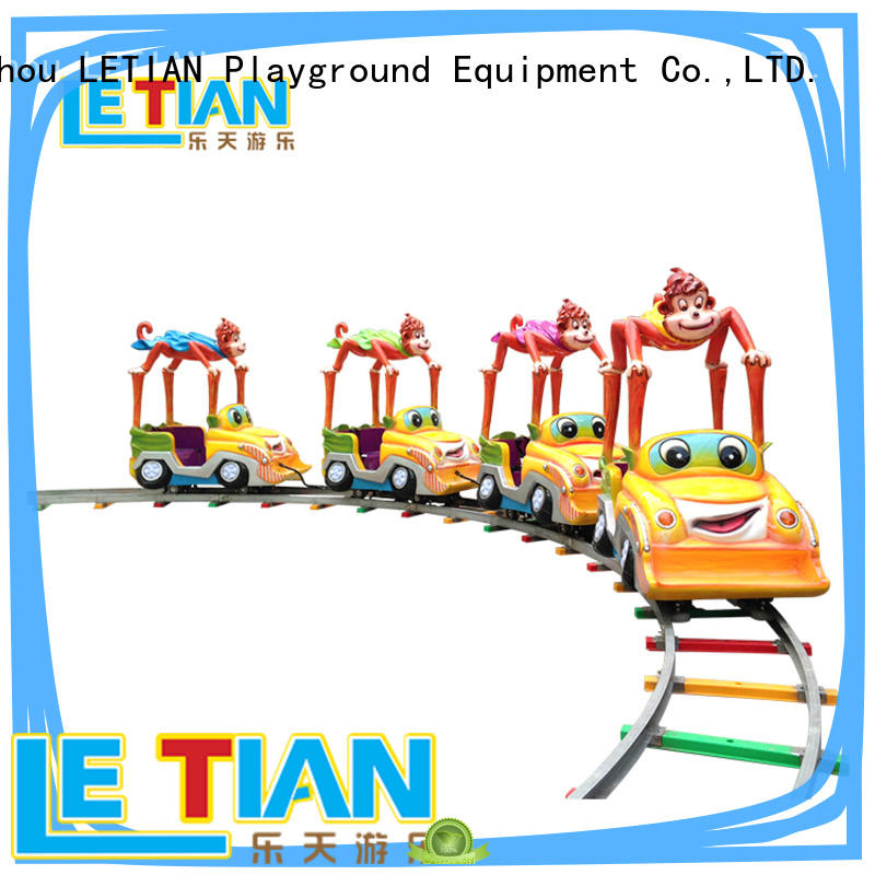 LETIAN mechanical small ride on trains for business park playground