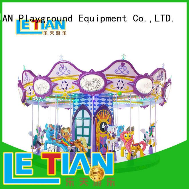 LETIAN 24 seats new amusement park rides horse theme park