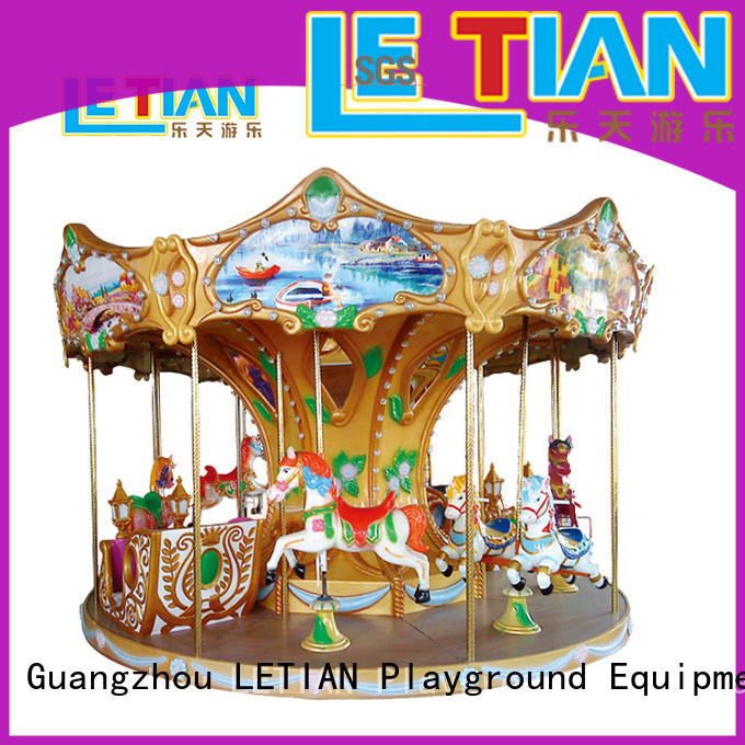 LETIAN colorful carousel for kids for kids shopping centers