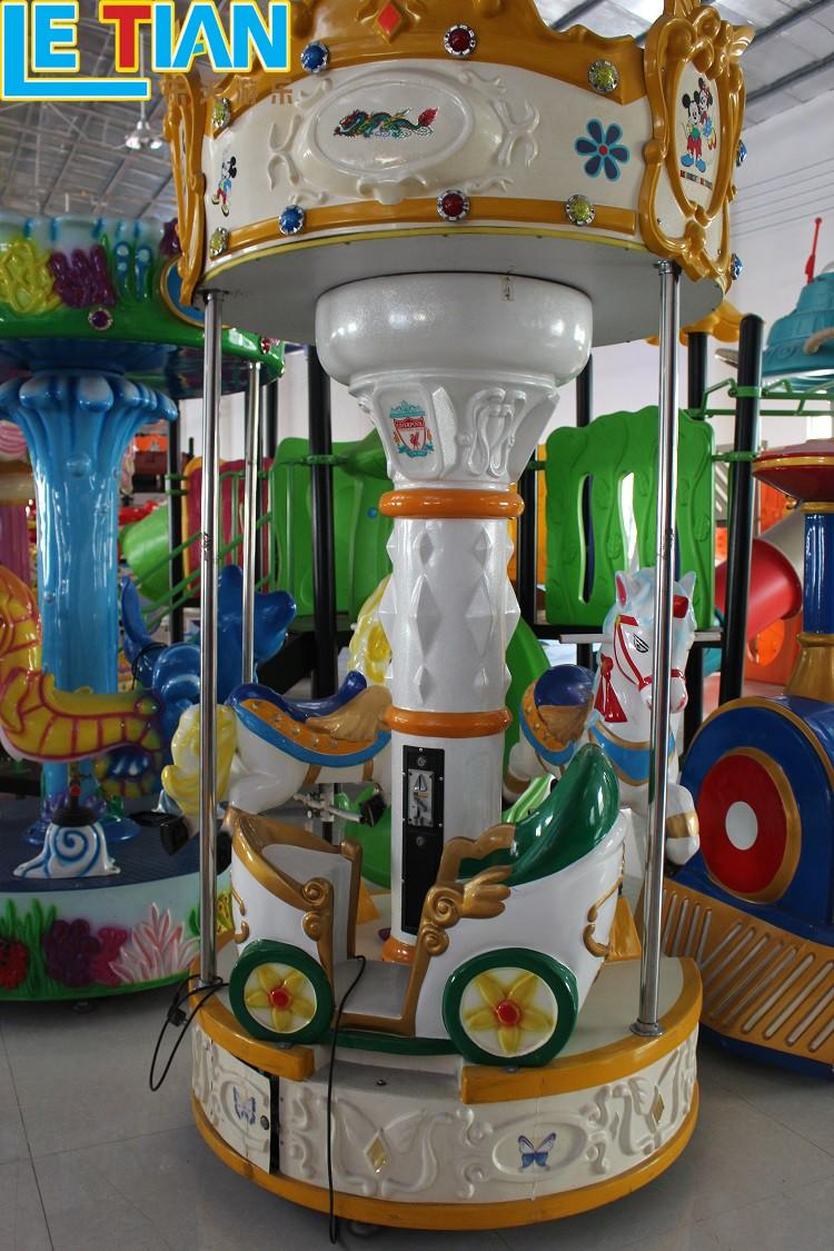 LETIAN horses carousel for kids design fairground-1