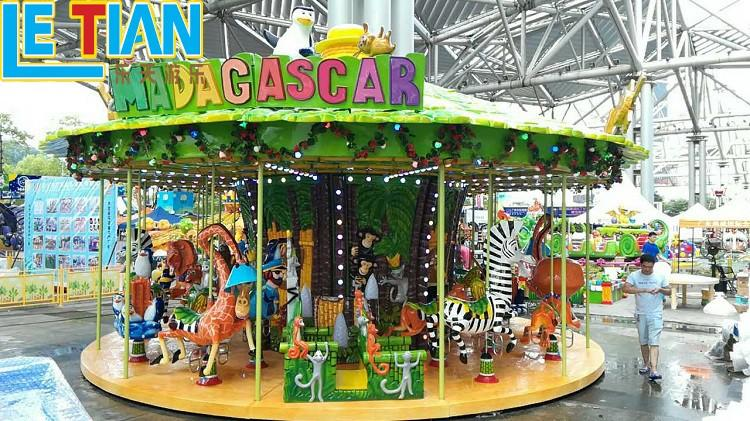LETIAN colorful childrens carousel customized theme park-3