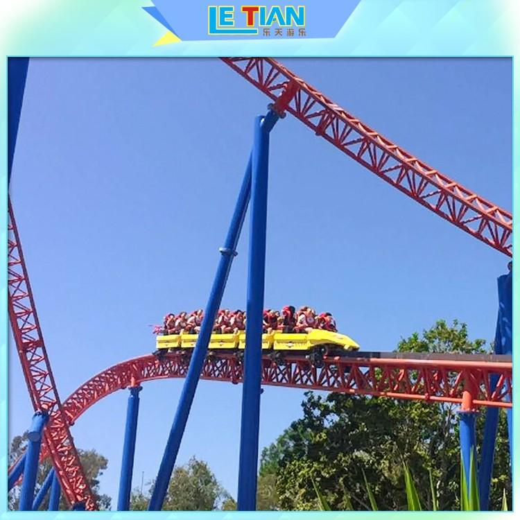 LETIAN beautiful roller coaster ride for kids theme park-1
