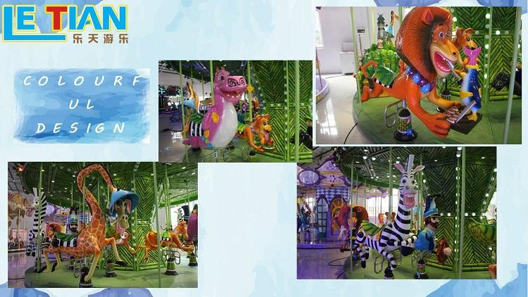 LETIAN colorful childrens carousel customized theme park-2