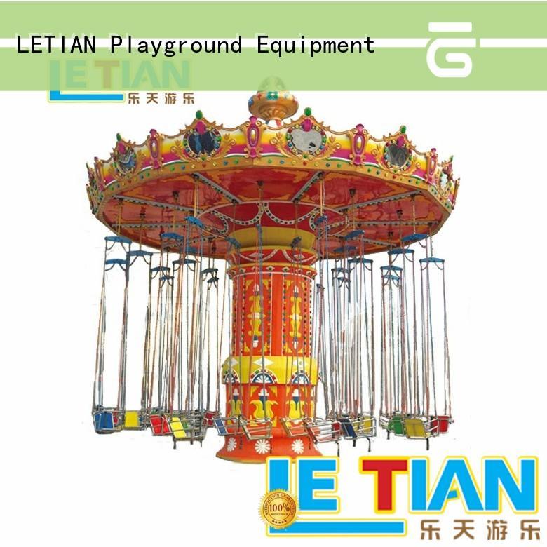 LETIAN flying swing ride carousel zoo