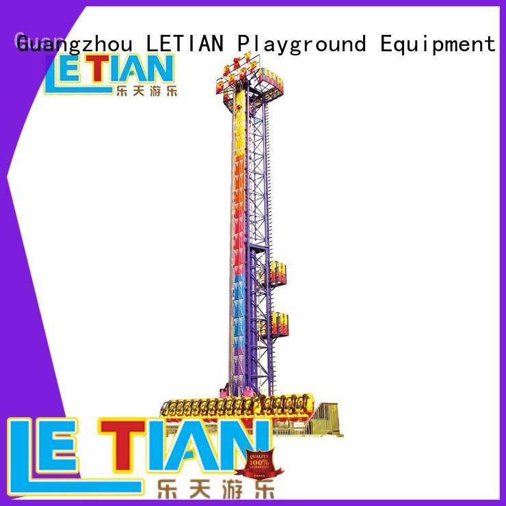 LETIAN fiber sky drop ride controller playground