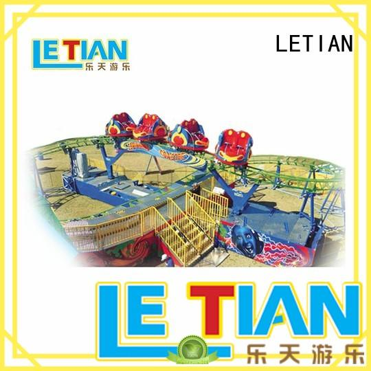 LETIAN rotating childrens roller coaster overlapping playground